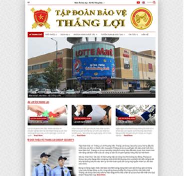 Thiết kế Mẫu website bảo vệ an ninh 04