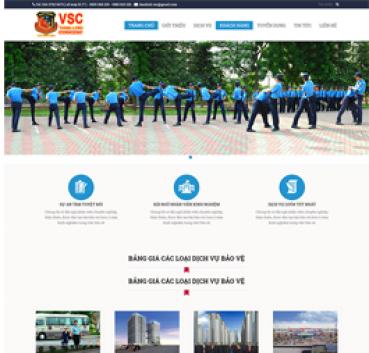Thiết kế Mẫu website bảo vệ an ninh 05