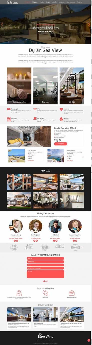 Thiết kế Mẫu website bất động sản 08