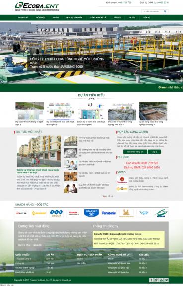 Mẫu website  công ty môi trường MT01