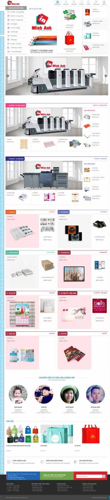 Thiết kế Mẫu website in ấn 01