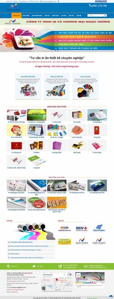 Thiết kế Mẫu website in ấn 02