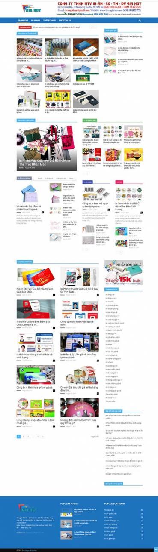 Thiết kế Mẫu website in ấn 03