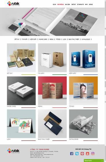 Thiết kế Mẫu website in ấn 10