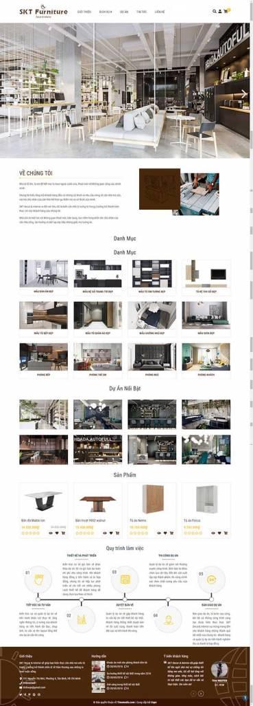 Thiết kế Mẫu website kiến trúc nội thất KTNT15