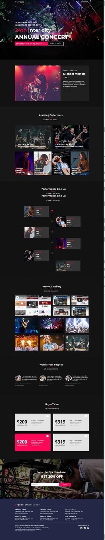 Thiết kế Mẫu website Landing Page 07