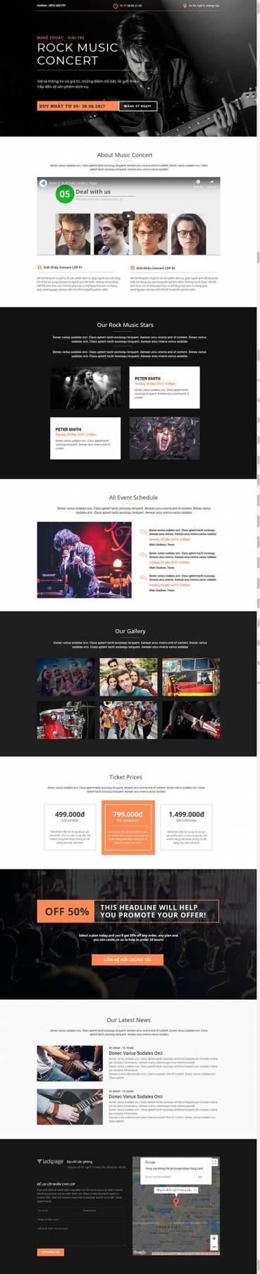 Thiết kế Mẫu website Landing Page 08