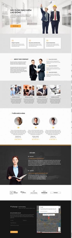 Thiết kế Mẫu website Landing Page 10