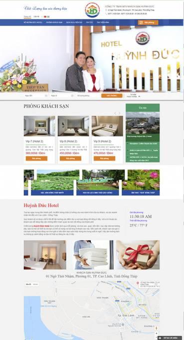 Thiết kế Mẫu website nhà hàng khách sạn NHKS07