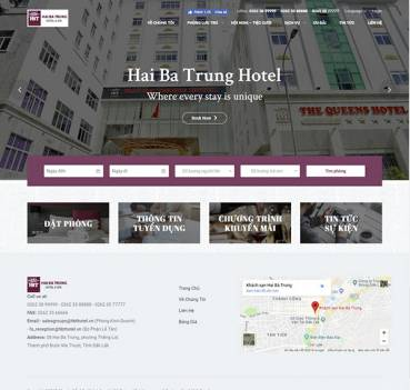 Thiết kế Mẫu website nhà hàng khách sạn NHKS08