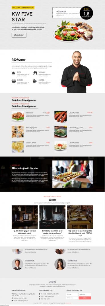 Mẫu website nhà hàng khách sạn NHKS16