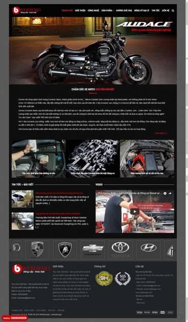 Thiết kế Mẫu website ô tô - Xe máy 01