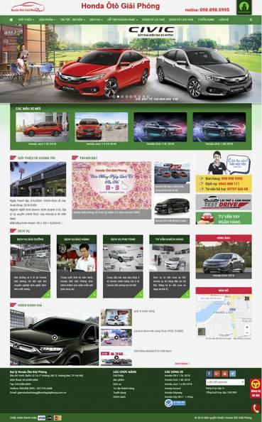 Thiết kế Mẫu website ô tô xe máy OTXM07