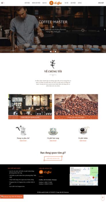 Mẫu website quán cà phê CP01