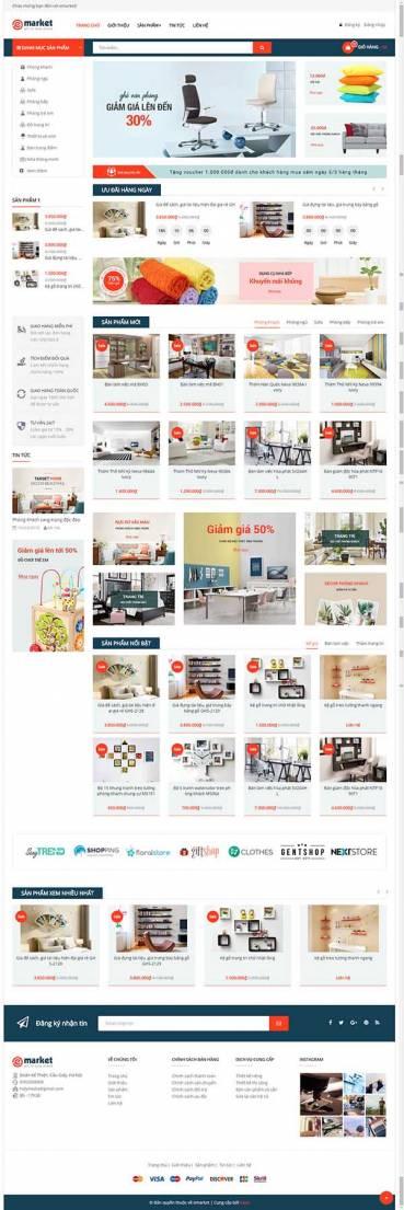 Thiết kế Mẫu website siêu thị 04