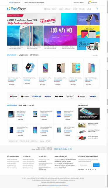 Thiết kế Mẫu website siêu thị điện máy DM17