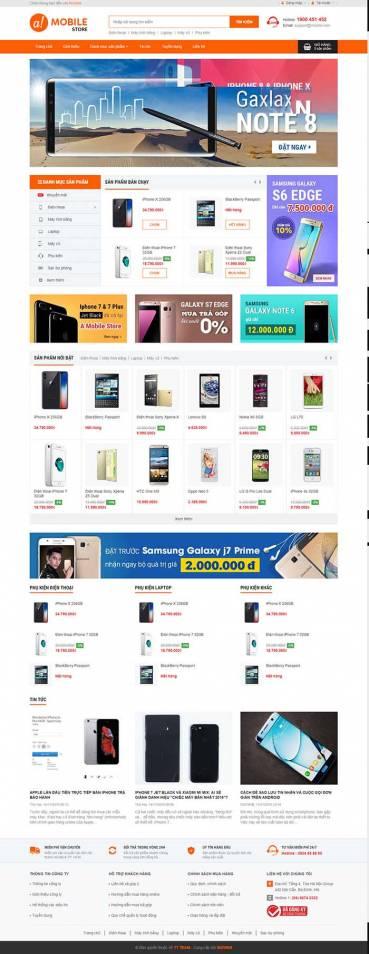 Thiết kế Mẫu website siêu thị điện máyDM18