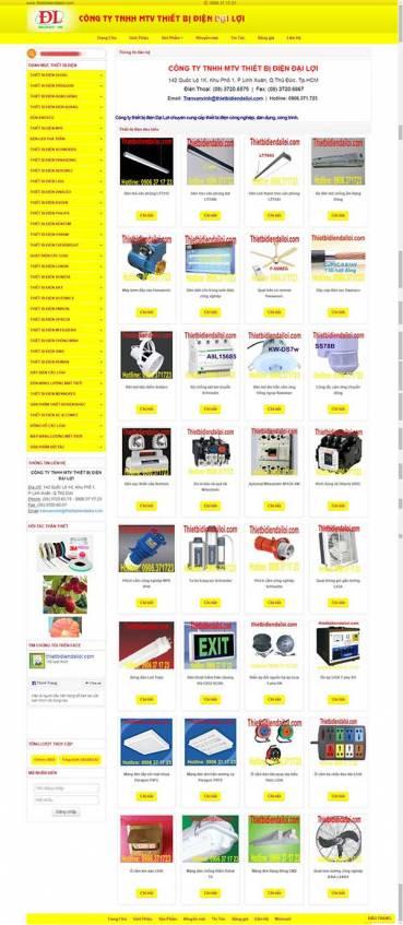 Thiết kế Mẫu website thiết bị điện 07