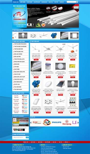 Thiết kế Mẫu Website Thiết Bị Điện TBD02