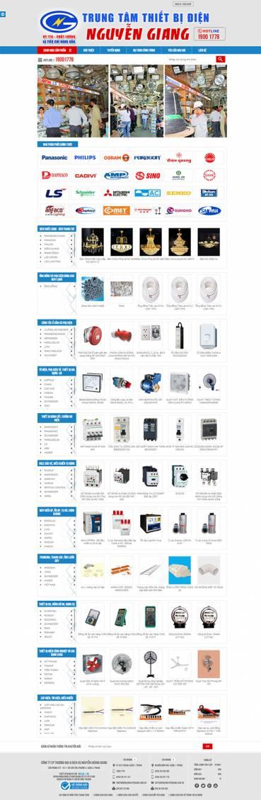 Thiết kế Mẫu Website Thiết Bị Điện TBD05