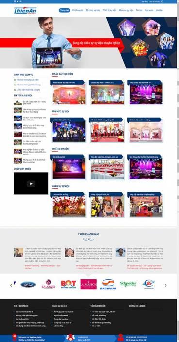 Thiết kế Mẫu website tổ chức sự kiện 01