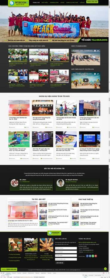 Thiết kế Mẫu website tổ chức sự kiện 03