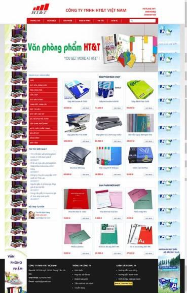 Thiết kế Mẫu website văn phòng phẩm 06