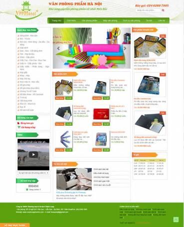 Thiết kế Mẫu website văn phòng phẩm 08
