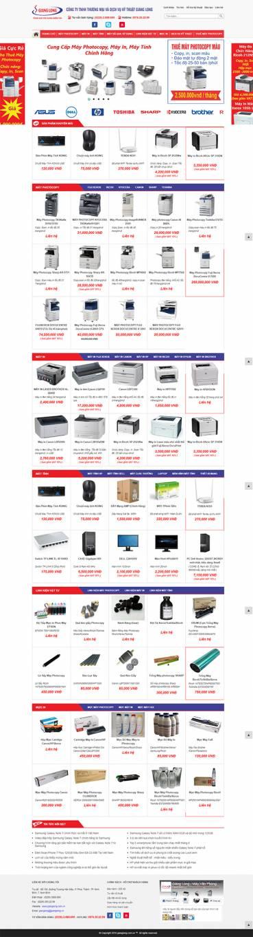 Thiết kế Mẫu Website Văn Phòng Phẩm VPP01