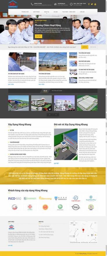 Thiết kế Mẫu website xây dựng 01