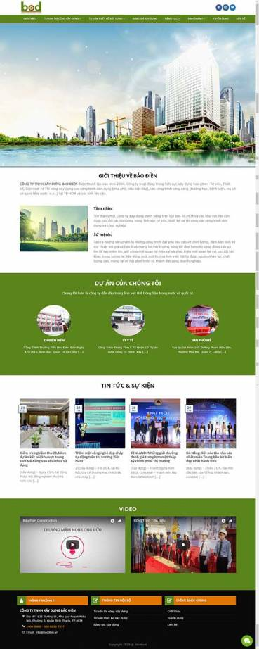 Thiết kế Mẫu website xây dựng 04