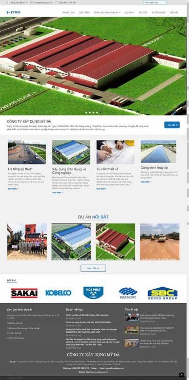 Thiết kế Mẫu website xây dựng 05