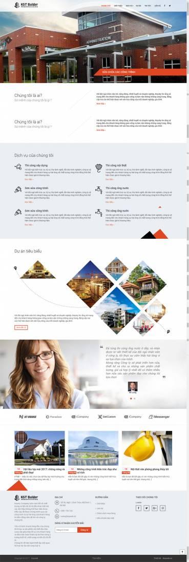 Thiết kế Mẫu website kiến trúc nội thất KTNT19