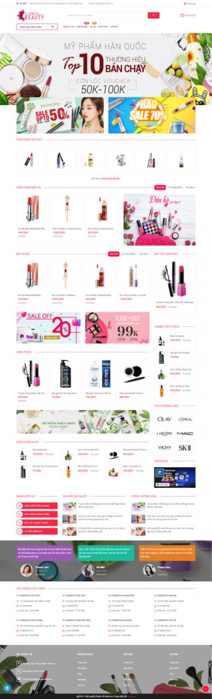 Thiết kế Mẫu website mỹ phẩm MP16