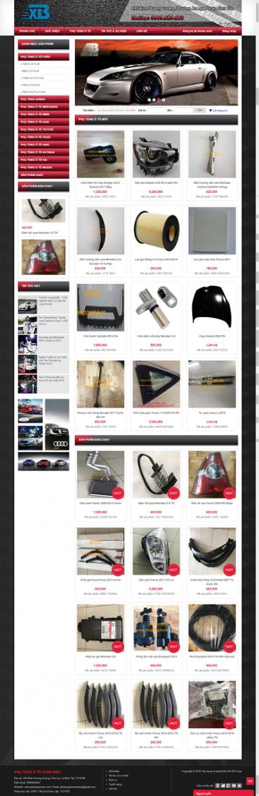 Website phụ tùng ô tô xe máy PT02